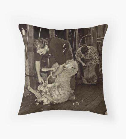 Shearing Time Throw Pillow