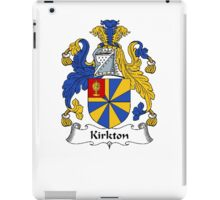 Coat of arms (family crest) for last-name or surname Kirkton . Heraldry banner for your name. iPad Case/Skin
