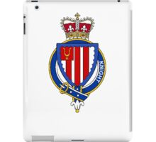 Coat of arms (family crest) for last-name or surname Knight (England) . Heraldry banner for your name. iPad Case/Skin