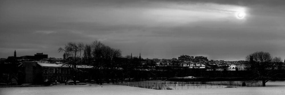 Winter Sun over Edinburgh by Chris Clark