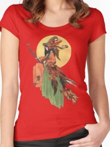 Autumn Witch Women's Fitted Scoop T-Shirt