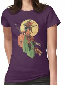 Autumn Witch Womens Fitted T-Shirt
