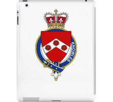 Coat of arms (family crest) for last-name or surname Knowles (England) . Heraldry banner for your name. iPad Case/Skin