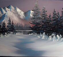 Snowy peaks by Kevin  Johnston