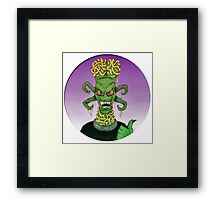B Movie Alien Framed Print