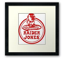 Raider Jones Framed Print