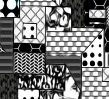 Beautiful Cushions/Digital Quilt Black and White Sticker