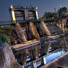 Weir - Torrens Lake Adelaide by papertopixels