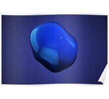 Blue abstract blob Poster