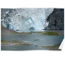 Bertrab hanging glacier Poster