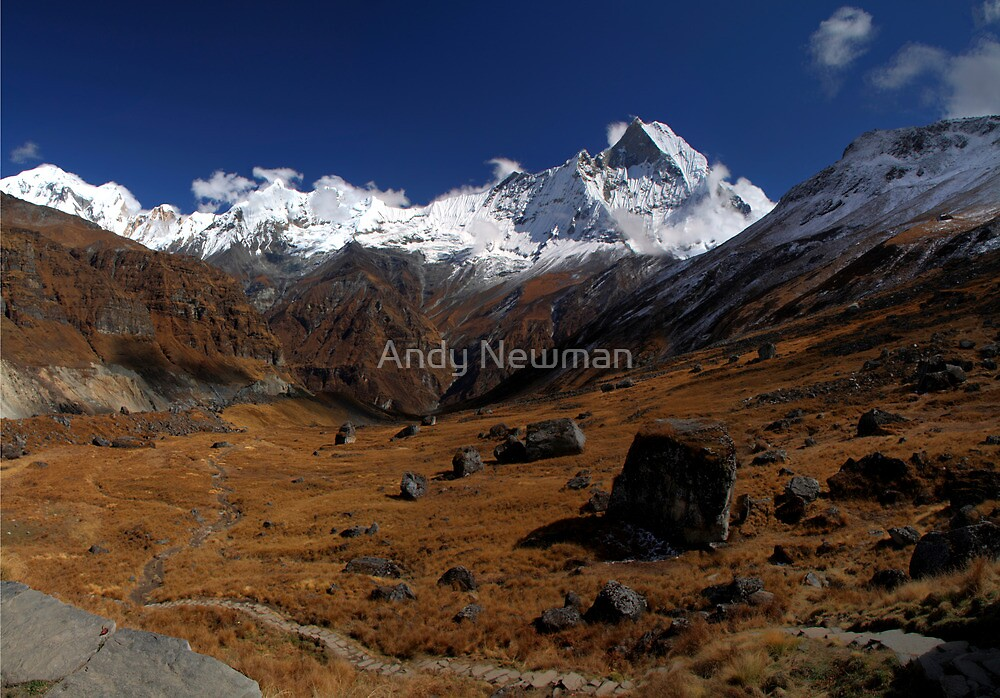 Machhapuchre, Nepal. by Andy Newman