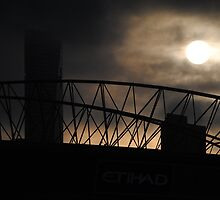 Rising sun over Etihad Stadium  by KarynL