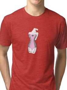 The woman with de pink corset Tri-blend T-Shirt