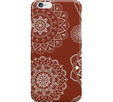 Red and White Mandalas iPhone Case/Skin
