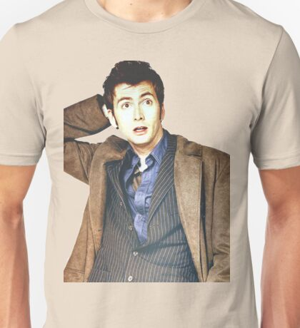 COLOR David Tennant as Doctor Who Unisex T-Shirt