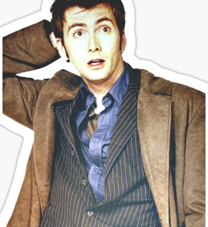 COLOR David Tennant as Doctor Who Sticker