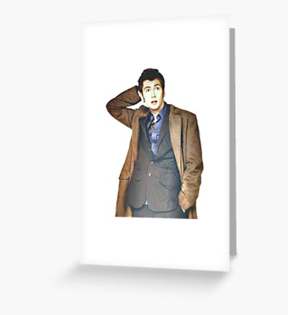 COLOR David Tennant as Doctor Who Greeting Card