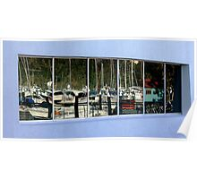 Reflections on Hamilton Island marina Poster