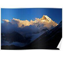 Machhupuchhare sunset, Nepal. Poster
