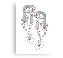 Sisters in a Bottle Canvas Print