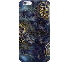 Spacey Tardis Circular Gallifreyan design  iPhone Case/Skin