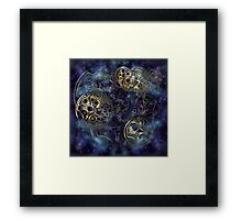 Spacey Tardis Circular Gallifreyan design  Framed Print