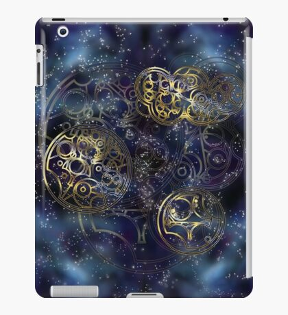 Spacey Tardis Circular Gallifreyan design  iPad Case/Skin