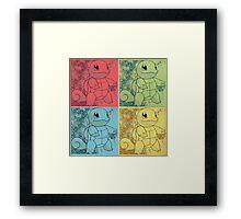 Pokemon Squirtle Popart  Framed Print