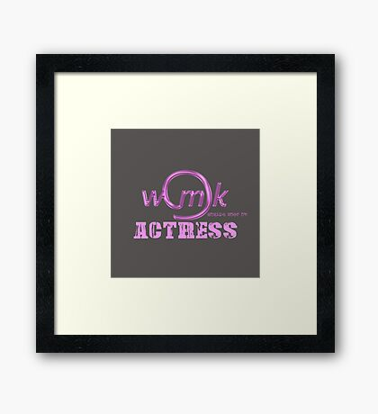 World's Most Ok  actress Framed Print