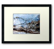 Ice Mountain Framed Print