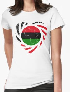 Black Murican Patriot Flag Series 2.0 Womens Fitted T-Shirt