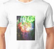 Sparkly Flower Explosion in Rainbow Unisex T-Shirt
