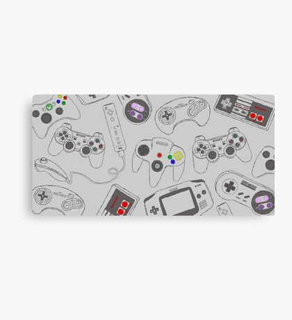Gaming Controller Pattern Canvas Print
