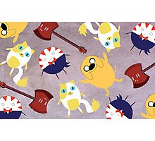 Adventure Time Pattern Photographic Print