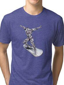 GREAT WAVE - SURFER Tri-blend T-Shirt
