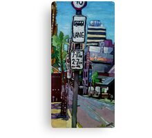 Bus Lane Canvas Print