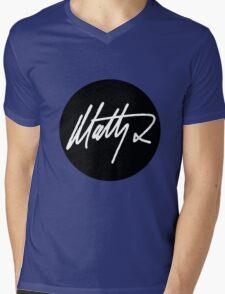 Matt Healy Signature - The 1975 White  Mens V-Neck T-Shirt