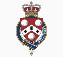 Coat of arms (family crest) for last-name or surname Ledbetter or Leadbetter (England) . Heraldry banner for your name. by rita24