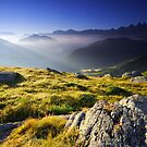 Mountains landscape, Oisans, France by Willy Vendeville