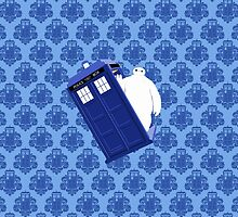Baymax Inside Flying Tardis by raisya85