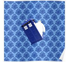 Baymax Inside Flying Tardis Poster