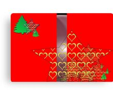 Christmas Greeting Card of wall hanging Canvas Print