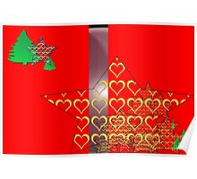 Christmas Greeting Card of wall hanging Poster