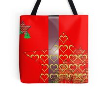 Christmas Greeting Card of wall hanging Tote Bag