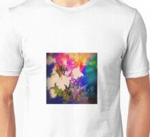Summer Flower Basket Drenched in Rainbow Unisex T-Shirt
