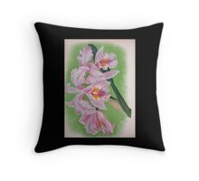 Iconagraphy of Orchids Iconographie des Orchidées Jean Jules Linden V4 1888 0174 Throw Pillow