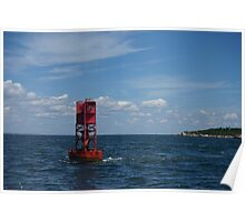 Red Buoy Poster