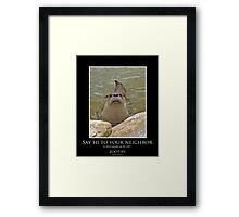 ZooTips: Say Hi to Your Neighbor Framed Print