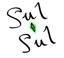 sul sul - the sims say hello [with plumbob] Photographic Print