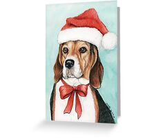 Christmas Beagle Greeting Card